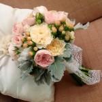 Seaside Vintage Bouquet: David Austins, Hyericum berries, Silver Suede foliage