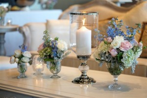 Vintage Candleholders and cut crystal vases