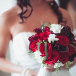 Modern Roses, Calla Lilies, Freesias and strappy leaves