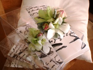 Ladies Wristlet Corsage: White Orchids and Rose buds