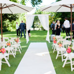 Aisle posies Ceremony set up by Wedding Day Flair